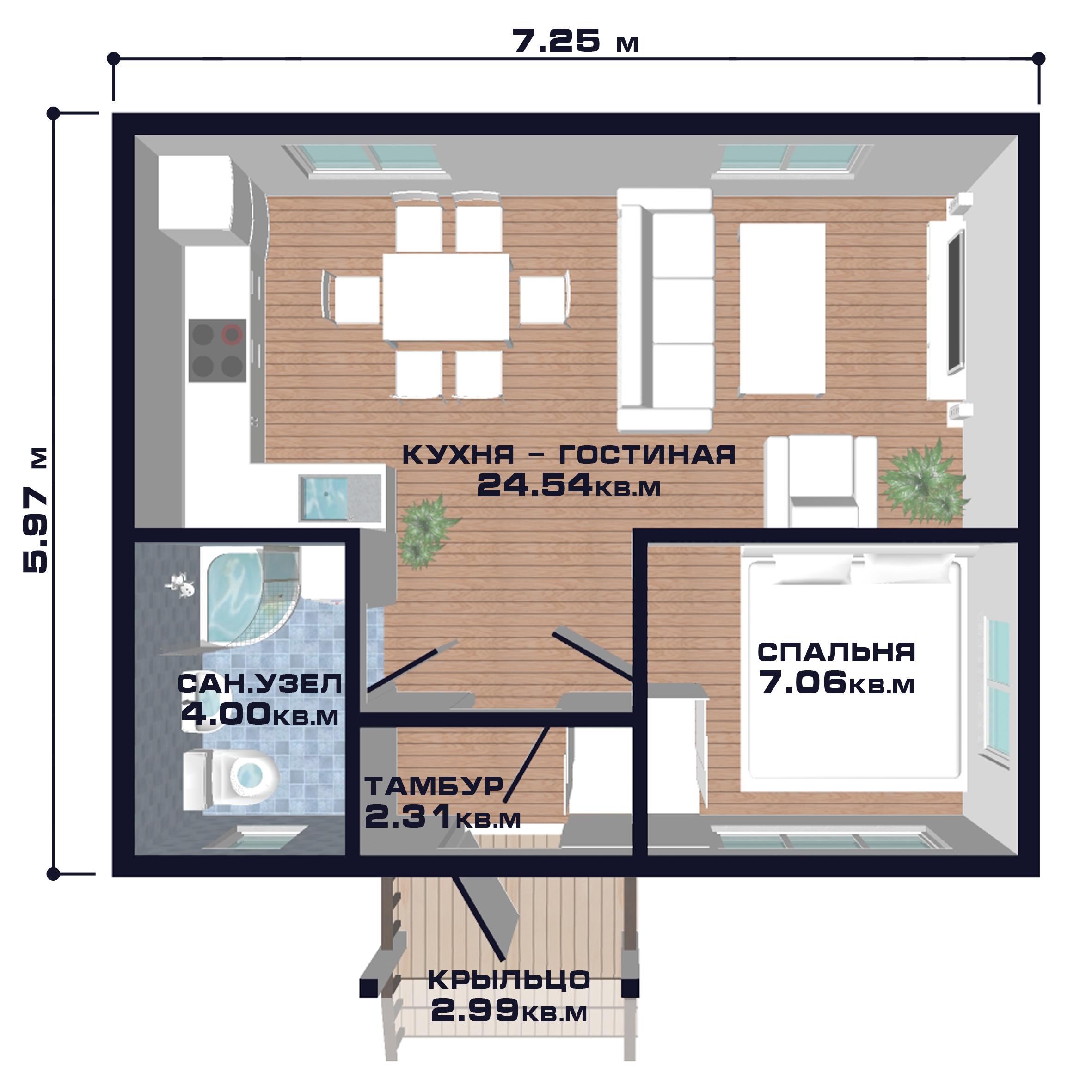 Проэкты дома 40 кв.метров